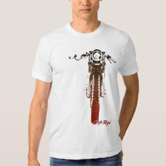 Caféracer-frontal rotes Vintages angeredetes Shirts