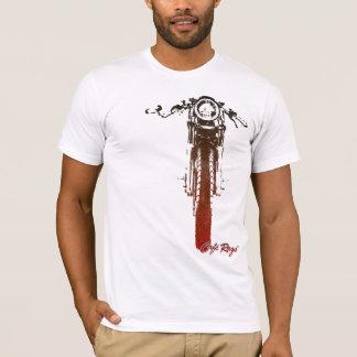Caféracer-frontal rotes Vintages angeredetes T-Shirt
