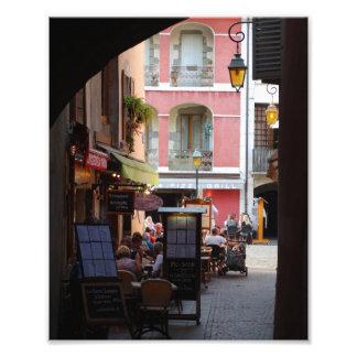 Cafés im Freien, Restaurants in der wunderlichen Fotodruck