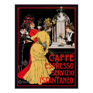 Caffe Espresso Servizio Istantaneo Poster