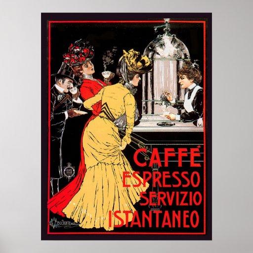 Caffe Espresso Servizio Istantaneo Plakat