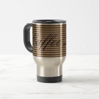 Caffee Latte hoch entwickelte Streifen-nobles Reisebecher