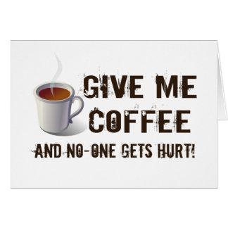 Caffein Entzug Karte