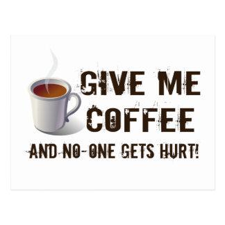 Caffein Entzug Postkarte