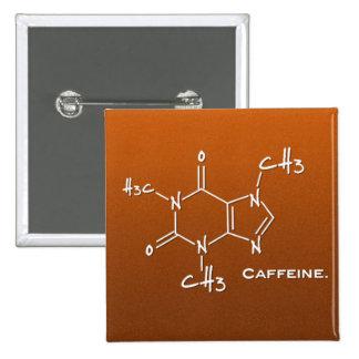 Caffiene Molekül (chemische Struktur) Quadratischer Button 5,1 Cm