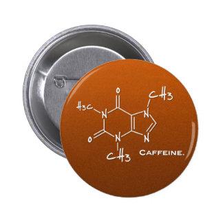 Caffiene Molekül (chemische Struktur) Runder Button 5,1 Cm