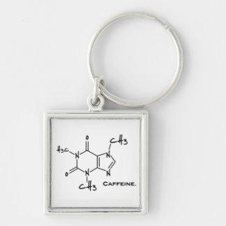 Caffiene Molekül (chemische Struktur) Schlüsselanhänger