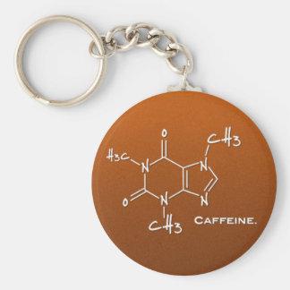 Caffiene Molekül (chemische Struktur) Standard Runder Schlüsselanhänger