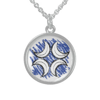 Caidian Kreuz Sterling Silberkette