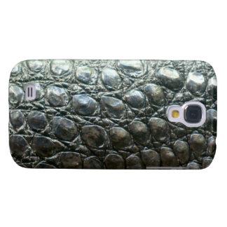 Caiman-Krokodil-Imitat Alligator-Haut Entwurf Galaxy S4 Hülle