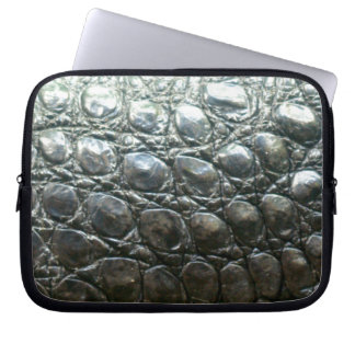 Caiman-Krokodil-Imitat Alligator-Haut Entwurf Laptop Sleeve