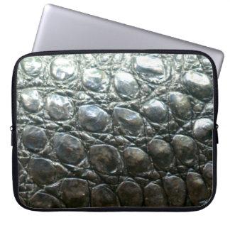 Caiman-Krokodil-Imitat Alligator-Haut Entwurf Laptopschutzhülle