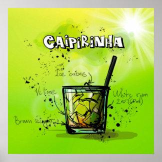 Caipirinha Cocktail-Plakat Poster