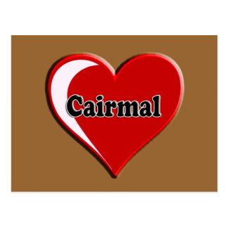 Cairmal auf Herzen für Hundeliebhaber Postkarte
