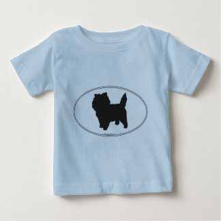 Cairn-Terrier-Silhouette Baby T-shirt