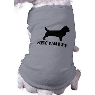 Cairn-Terrier-Silhouette mit kundenspezifischem Ärmelfreies Hunde-Shirt