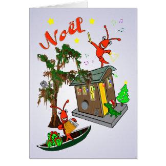 Cajun Bayou-Weihnachten Karte