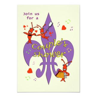 Cajun themenorientierte Paar-Duschen-Einladung 12,7 X 17,8 Cm Einladungskarte