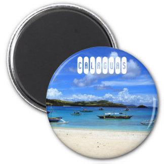 Calaguas Strand Runder Magnet 5,7 Cm