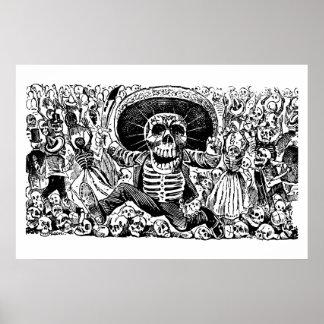 Calavera Oaxaqueña durch José Guadalupe Posada Poster