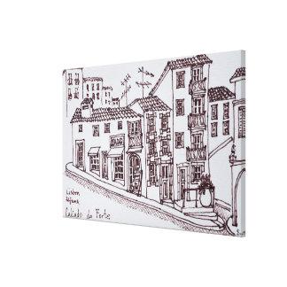 Calcada tun Stärke, Alfama | Lissabon, Portugal Leinwanddruck