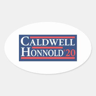 Caldwell Honnold 2020 Ovaler Aufkleber