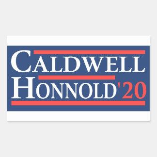Caldwell Honnold 2020 Rechteckiger Aufkleber