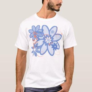 Calendula-Orange mit den Winden-Blues T-Shirt