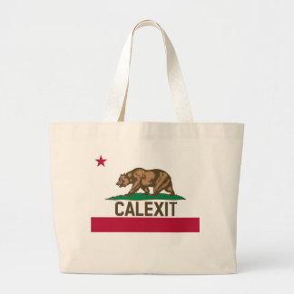 CALEXIT Kalifornien Bärn-Flagge Jumbo Stoffbeutel