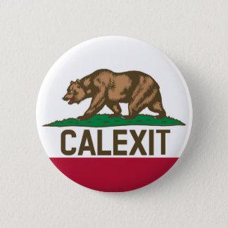 CALEXIT Kalifornien Bärn-Flagge Runder Button 5,1 Cm