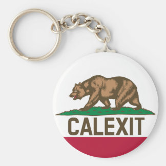 CALEXIT Kalifornien Bärn-Flagge Schlüsselanhänger