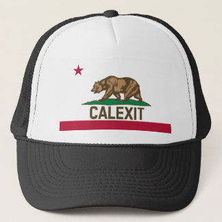 CALEXIT Kalifornien Bärn-Flagge Truckerkappe