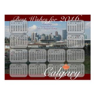 Calgary-Kalender 2016 Postkarte
