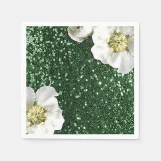 Cali grüner Grün-Jasmin-GlitterSequin Sparkl Papierserviette