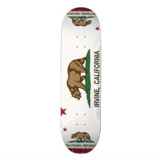 Californi Staats-Flagge Irvine Personalisiertes Skatedeck