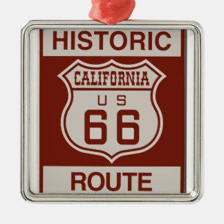 CALIFORNIA66 SILBERNES ORNAMENT