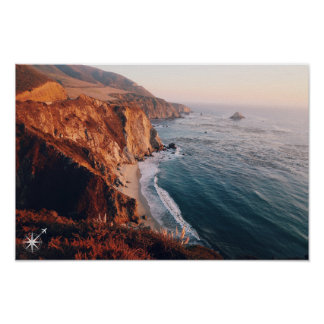 California Cliff Poster