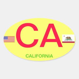 California* Europäisch-Ähnlicher ovaler Ovaler Aufkleber