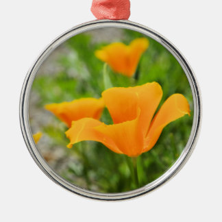 Californian Poppy Silbernes Ornament