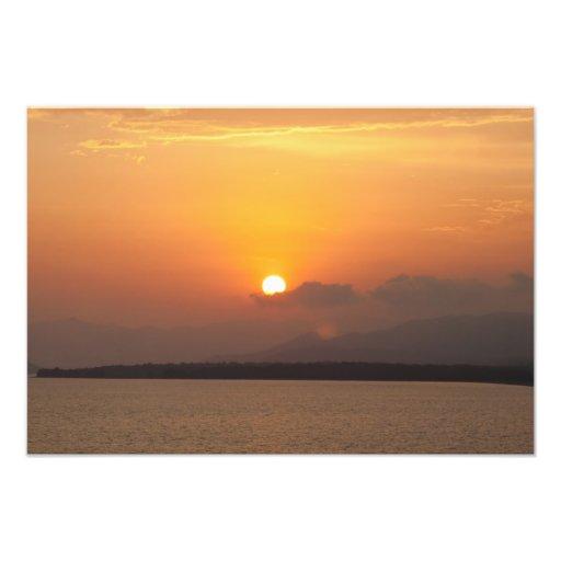 Calis Strand-Sonnenuntergang-Bild Fotografische Drucke