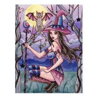 Calista - Halloween-Hexe-Postkarte Postkarte