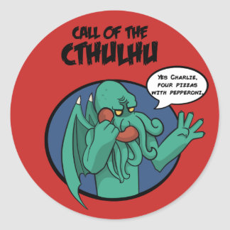 call of the Cthulhu Runder Aufkleber
