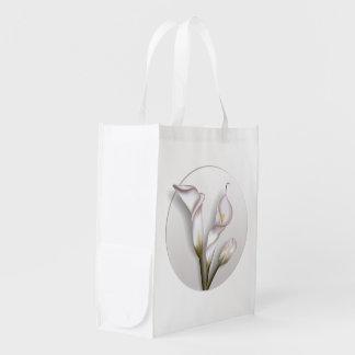 Calla-Blume Wiederverwendbare Einkaufstasche