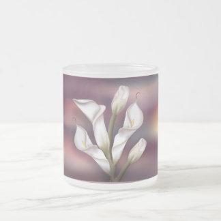 Calla-Blumenstrauß Mattglastasse