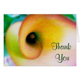 Calla-Lilie danken Ihnen Karten