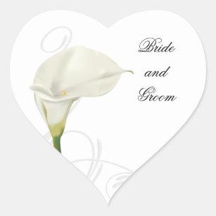 Calla-Lilien-Aufkleber Herz-Aufkleber