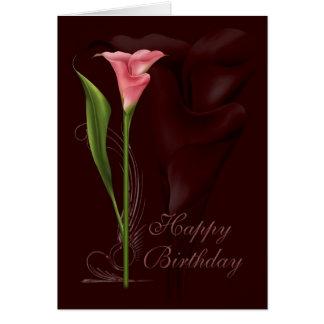 Calla-Lilien-Geburtstag Karte