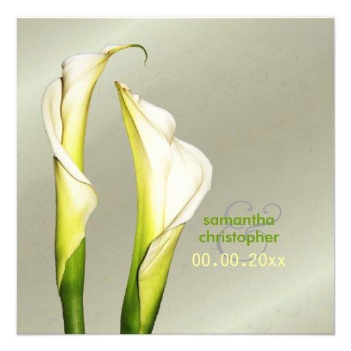 Calla-Lilien/Hochzeit Einladungen Quadratische 13,3 Cm Einladungskarte ...
