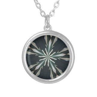 Calla-Lilien-Stern-Kaleidoskop Versilberte Kette