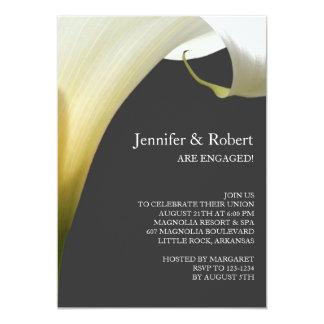 Calla-Lilien-Verlobungs-Einladung 12,7 X 17,8 Cm Einladungskarte